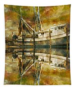 Nautical Timepiece Tapestry