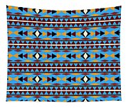 Navajo Blue Pattern Tapestry