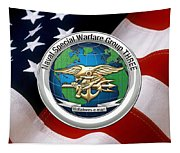 Naval Special Warfare Group Three - N S W G-3 - Over U. S. Flag Tapestry