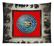 Naval Special Warfare Group Two - N S W G-2 - Over Navy S E A Ls Collage Tapestry