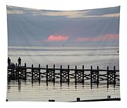 Navarre Beach Sunset Pier 17 Tapestry