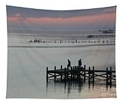 Navarre Beach Sunset Pier 30 Tapestry