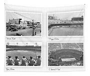 Navin Field Briggs Tiger Stadium Comerica Park Tapestry