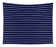 Navy Pinstripe 2 Tapestry
