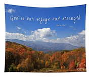 Nc Mountains With Scripture Tapestry