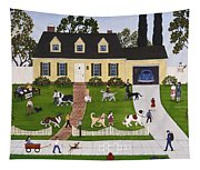 Neighborhood Dog Show Tapestry