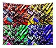 Neo Pop Art Urbanscape New York Sky View Tapestry
