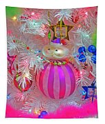 Neon Holiday Tree Tapestry