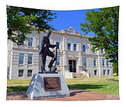 Ness County Courthouse In Kansas Tapestry