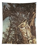 Never So Weary Never So Woeful Illustration To A Midsummer Night S Dream Tapestry