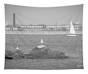 New Bedford Massachusetts Black White Tapestry