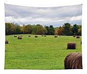 New England Hay Bales Tapestry