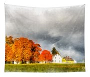 New England Village Tapestry