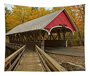 New Hampshire Covered Bridge Tapestry