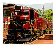New Hope Ivyland Railroad With Cars Tapestry