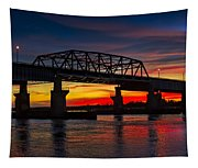 New Jersey Meadowlands Sunset Tapestry