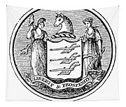 New Jersey State Seal Tapestry