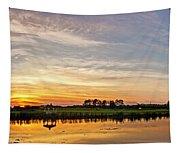 New Jersey Sunset Panoramic Tapestry