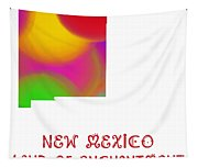 New Mexico State Map Collection 2 Tapestry