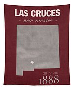 New Mexico State University Las Cruces Aggies College Town State Map Poster Series No 075 Tapestry