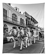 New Orleans Funeral Monochrome Tapestry