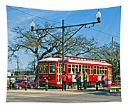 New Orleans Streetcar Tapestry