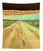 New Photographic Art Print For Sale Long Road To The Valley Of Fire Tapestry