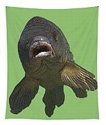 New Photographic Art Print For Sale   Open Mouthed Fish In Green Water Tapestry