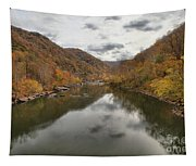 New River Fall Reflections Tapestry