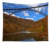 New River Gorge Fiery Fall Colors Tapestry