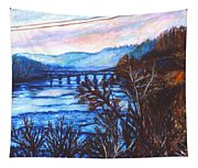 New River Trestle In Fall Tapestry