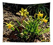 New Yellow Flowers 1 Tapestry