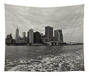 New York Battery Park View Tapestry
