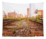 New York City - Abandoned Railroad Tracks Tapestry