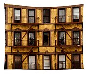 New York City Apartment Building Study Tapestry