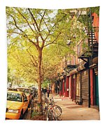 New York City - Autumn In The East Village  Tapestry