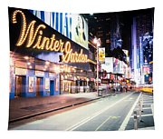 New York City - Broadway Lights And Times Square Tapestry