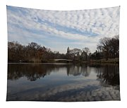 New York City Central Park Bow Bridge Quiet Reflections Tapestry