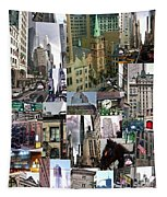 New York City Collage Tapestry