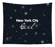 New York City Girl Tapestry
