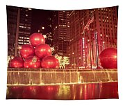 New York City Holiday Decorations Tapestry
