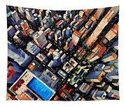 New York City Sky View Tapestry