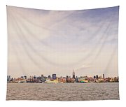 New York City Skyline And The Hudson River Tapestry