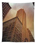 New York City - Skyscraper And Storm Clouds Tapestry
