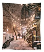 New York City - Winter Snow Scene - East Village Tapestry by Vivienne Gucwa