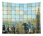 New York Golden Panorama Tapestry