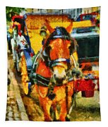 New York Horse And Carriage Tapestry