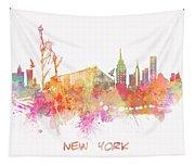 New York Skyline City Tapestry