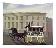 New York Stagecoach Tapestry