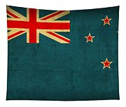 New Zealand Flag Vintage Distressed Finish Tapestry